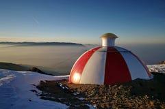 Refugio alpino Imagenes de archivo