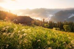 Refugio in alta montagna Fotografia Stock Libera da Diritti
