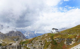 Refugio Auronzo in Dolomiet, Italië royalty-vrije stock foto's