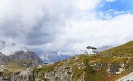 Refugio Auronzo en dolomías, Italia Fotos de archivo libres de regalías