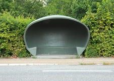 Refugio danés especial del tiempo en la parada de autobús Foto de archivo libre de regalías