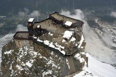 Refugio de Aguille du Midi Imagenes de archivo