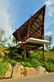 Refugio de la choza en el parque de naturaleza Fotos de archivo