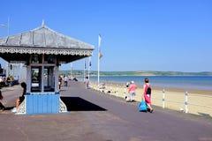 Refugio de la playa, Weymouth, Dorset, Reino Unido Imagenes de archivo