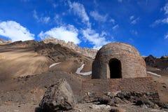 Refugio de montaña en Las Cuevas,argentina Royalty Free Stock Images