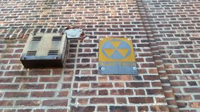 Refugio de polvillo radiactivo Imagen de archivo