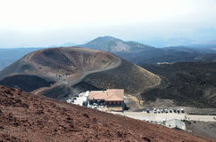Refugio de Sapienza en el volcán el Etna Fotografía de archivo libre de regalías