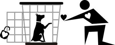 Refugio del perro Foto de archivo libre de regalías
