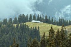 Refugio para animales de las montañas de Rarau, paisaje fotografiadas imágenes de archivo libres de regalías