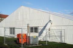 Refugio provisional del refugiado Fotos de archivo libres de regalías