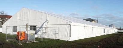 Refugio provisional del refugiado Imagen de archivo