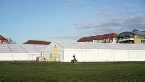 Refugio provisional del refugiado Fotografía de archivo libre de regalías
