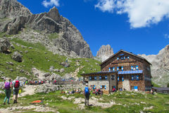 Refujio hotel in the Alps Royalty Free Stock Photo