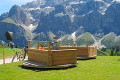 Refujio hotel in the Alps Stock Images