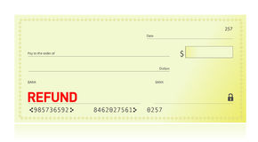 Refund check illustration design Stock Images