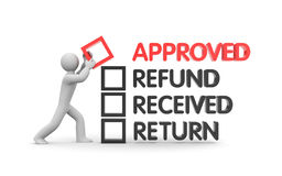 Refund and Finance. Business metaphor Royalty Free Stock Photos