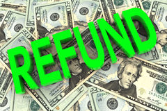 Refund on Money Background Royalty Free Stock Photography