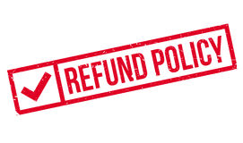 Refund Policy rubber stamp Stock Photography