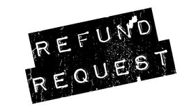 Refund Request rubber stamp. Grunge design with dust scratches. Effects can be easily removed for a clean, crisp look. Color is easily changed Stock Images