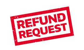 Refund Request rubber stamp. Grunge design with dust scratches. Effects can be easily removed for a clean, crisp look. Color is easily changed Stock Photo