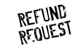 Refund Request rubber stamp. Grunge design with dust scratches. Effects can be easily removed for a clean, crisp look. Color is easily changed Royalty Free Stock Photo