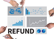 REFUND and Tax Refund Fine Duty Taxation Royalty Free Stock Images