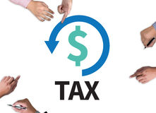 REFUND and Tax Refund Fine Duty Taxation Royalty Free Stock Photos