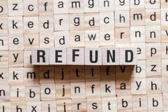 Refund word concept royalty free stock photos