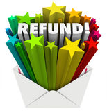 Refund Word Envelope Money Tax Return Mail royalty free illustration