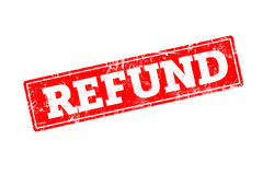 REFUND written on red rubber stamp Royalty Free Stock Photo