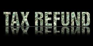 refund1 podatku Zdjęcia Royalty Free