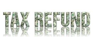 refund2 φόρος Στοκ Εικόνα