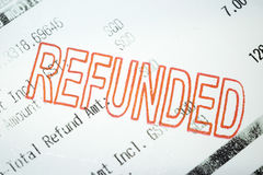 Refunded Stock Images