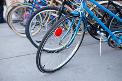 Refurbished bicycles Royalty Free Stock Photo