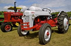 Refurbished Ford and Farmall Tractors. MADISON,SOUTH DAKOTA, August 22, 2014 ;  Each year on the 3rd weekend of August Prairie Village Heritage Days come alive Stock Photos
