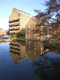 Former Georgian iron mill. reflected in still waters. Addlestone, Surrey.  Stock Photography