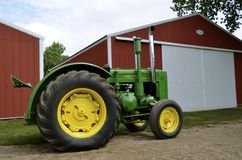 Refurbished John Deere Tractor. MADISON,SOUTH DAKOTA, August 22, 2014 ;  Each year on the 3rd weekend of August Prairie Village Heritage Days come alive with Royalty Free Stock Images