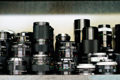 Refurbished lenses Stock Photos