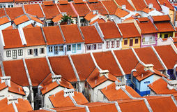 Refurbished old houses in singapore Royalty Free Stock Image
