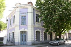Refurbished old pretty building in the town center of Oryahovo turned into kindergarten Royalty Free Stock Photography