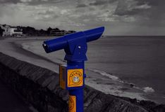 A talking Telescope on Exmouth promenade. royalty free stock photo