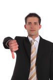 Refusal. A handsome businessman making a negative gesture. All on white background Stock Photos