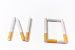 Refusal of cigarettes Royalty Free Stock Photography