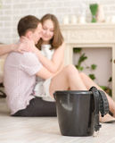 Refusal of domestic violence Stock Images