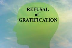 Refusal of Gratification concept Royalty Free Stock Photos