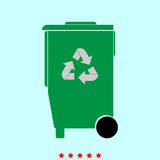 Refuse bin with arrows utilization  it is color icon . Refuse bin with arrows utilization it is color icon . Simple style Stock Photography