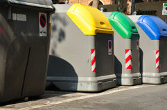 Refuse bins. Royalty Free Stock Image