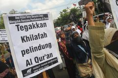 Refuse the burning of Koran (Quran) Stock Photo