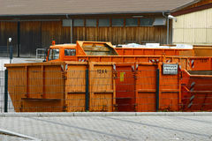 Refuse disposal service. In Germany Royalty Free Stock Images