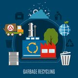 Refuse Disposal Works Composition Royalty Free Stock Images
